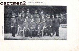 CAMP MILITAIRE DE BEVERLOO OFFICIERS MILITAIRES SOLDATS GUERRE BELGIQUE 1900 - België