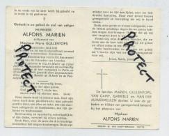 Alfons Marien  ( OLV Waver ( GUERRE- Oorlog 14-18  Oudstrijder - Vétéran De La Guerre ) - Images Religieuses