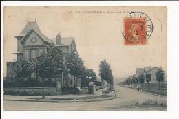 Carte De Franconville   Boulevard  De La Mairie  ( Recto Verso ) - Franconville