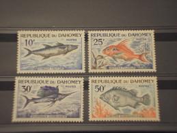DAHOMEY - 1965 PESCI 4 VALORI - NUOVI(++) - Benin - Dahomey (1960-...)