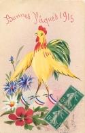 COQ FRANCAIS PATRIOTIQUE BONNE PAQUES 1915 - Patrióticos