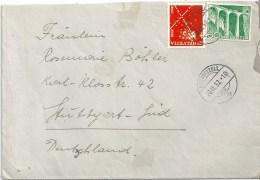 Ausland Brief  Bischofszell - Stuttgart  (2.Gewichtsstufe)             1952 - Schweiz
