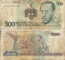 BRASIL - 500  CRUZEIROS  RESELLO (#364) - Brazil