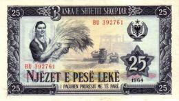 Albanie - Albania 1964 Billet 25 Leke Pick 37 Neuf UNC - Albanie