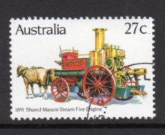 1891 Shand Mason Steam Fire Engine Stamp - Trucks
