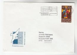 1982 LIECHTENSTEIN COVER Illus SLOGAN Pmk LIBRA 82 PHILATELIC EXHIBITION   Stamps SCOUTS Scouting - Liechtenstein