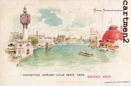 EXPOSITION PARIS 1900 CARTE TRANSPARENTE CARTE LUMINEUSE DIE-CUT HOLD-TO-LIGHT CONTRE LA LUMIERE BISCUIT LEFEVRE-UTILE - Contre La Lumière