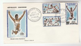 1962 GABON  FDC Sport FOOTBALL  ATHLETICS Soccer Cover Running Jumping - Unclassified