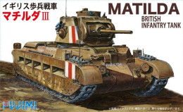 Matilda British Infantry Tank 1/76 ( Fujimi ) - Military Vehicles