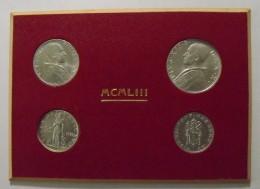 Plaquette De Quatre Monnaies Vaticanes Pie XII 1953 - Vatican