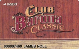 Barona Casino Lakeside CA Slot Card - Mentions See Your Real Player Services Host On Back - Casino Cards
