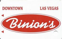 Binion´s Casino Las Vegas, NV - Slot Card - Solid White Card  (BLANK) - Casino Cards
