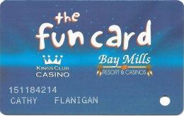 Bay Mills & Kings Club Casinos Brimley, MI Slot Card - No Text Over Dark Colored Mag Stripe - Casino Cards