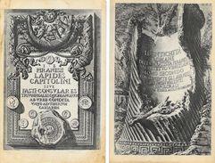 Piranesi, Giovanni Battista: Lapides Capitolini, Le Antichita Romane - Lot De 2 Cartes Non Circulées - Antike