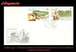 CUBA SPD-FDC. 1990-20 EMISIÓN AMÉRICA UPAEP. V CENTENARIO DEL DESCUBRIMIENTO DE AMÉRICA - FDC