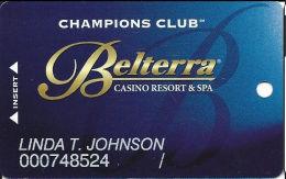 Belterra Casino Resort Florence, IN Slot Card - Vegas Style, Indiana Address Top Line Reverse - Casino Cards