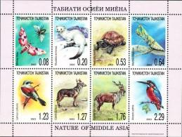 TAJIKISTAN - 2003 - Mi 302A-309A - ANIMALS OF CENTRAL ASIA SHEETLET - MNH ** - Tajikistan