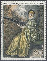 """1973 - N° 1765 : """"La Finette"""" De Watteau (1684-1721) - Frankreich"""
