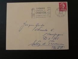 59 Nord Douai Charbon Coal Mine Mining 1956 - Flamme Sur Lettre Postmark On Cover - Geologie