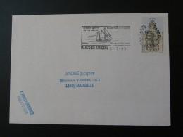 59 Nord Marcq En Baroeul Voyage En Goelette 1993 - Flamme Sur Lettre Postmark On Cover - Bateaux