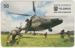 BRASIL C-329 Magnetic Telebras - Military, Helicopter - Used - Brésil