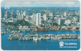BRASIL D-036 Magnetic Telebras - View, Town, Manaus - Used - Brésil