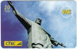 BRASIL D-159 Magnetic CTBC - Landmark Of Rio De Janeiro, Christus Statue - Used - Brésil
