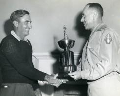 USA Competition De Golf Remise De Trophee Sport Ancienne Photo 1960