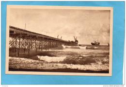 DAHOMEY-COTONOU-Le Wharf Et La Barre -années 30-édition Suzanne Toubon -Marseille - Dahomey