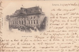 Cp , 52 , LANGRES , Hôtel-de-Ville - Langres