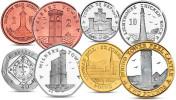 ISLE OF MAN 8 COINS SET 1 PENCE - 2 POUNDS BIMETAL 2013 UNC - Monnaies Régionales