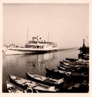"""Photo Originale Navire - Paquebot De Croisière à Vapeur  """" LE LAUSANNE """" Type Belle Époque Sur Le Lac Léman -1961- C.G.N - Schiffe"""