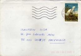 France Letter Via Macedonia 1995. Nice Stamp - Motive Birds - France