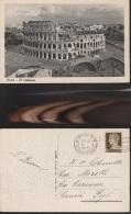 5875) ROMA IL COLOSSEO VIAGGIATA 1942 - Roma