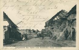 BE LANGEMARK / Langemarck Bei Yperm Vom Feindlichen Feuer Zerstört / - Langemark-Poelkapelle