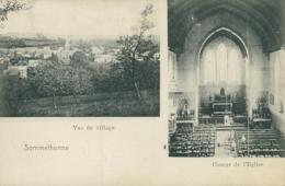 BE SOMMETHONNE / Vue Du Village, Choeur De L'Eglise / - Belgique