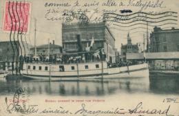 GB VALLEY FIELD / Bateau Passant Le Canal Rue Victoria / - Quebec