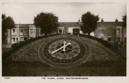 GB WESTON SUPER MARE / The Floral Clock / GLOSSY CARD - Weston-Super-Mare