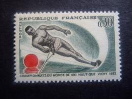 FRANCE 1963   WORLD CHAMPIONSHIP WATER SKIING      YVERT 1395     MNH **  (S11-NVT)