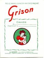 PROTEGE CAHIER- GRISON - Buvards, Protège-cahiers Illustrés