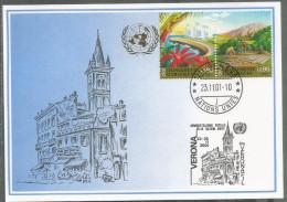 2001, UNO Genf - Blaue Karte, Show Card Verona - Briefe U. Dokumente