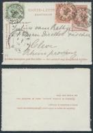 AC242 Entier De Bruxelles à Cleve Allemagne 1898 Affranchissement Complémentaire - Cartas-Letras