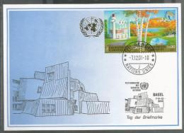 2001, UNO Genf - Blaue Karte, Show Card Basel - Briefe U. Dokumente