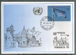 2002, UNO Genf - Blaue Karte, Show Card Forbach - Briefe U. Dokumente