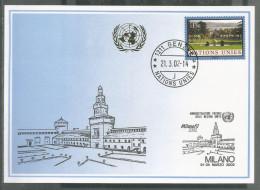 2002, UNO Genf - Blaue Karte, Show Card Milano - Briefe U. Dokumente