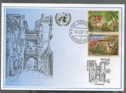 2002, UNO Genf - Blaue Karte, Show Card Verona - Briefe U. Dokumente