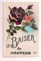 ++ 84 - Un Baiser De MONTEUX : Carte Avec Rose Et Paysage - Rex 1662 - - Monteux