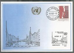 2001, UNO Genf - Blaue Karte, Show Card HAFNIA Kopenhagen - Briefe U. Dokumente