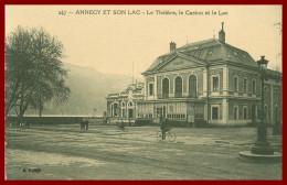 Dept 74 - Annecy - Le Théatre Le Casino Et Le Lac   ( Scan Recto Et Verso ) - Annecy