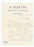 A . MARTIN  AMEUBLEMENT  DECORATION  à VALENCIENNES (NORD) - France
